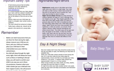 Baby Sleep Tips – New Pamphlet